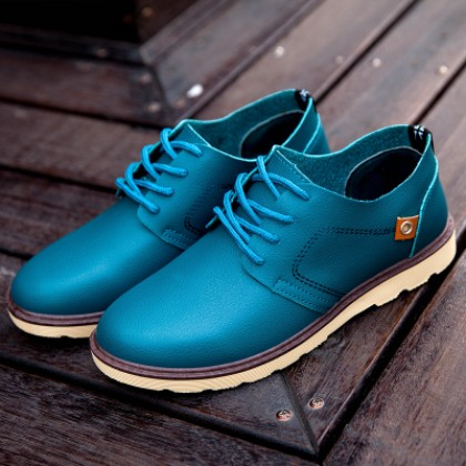 Men's Fashionable Lace Up Casual Leather Shoes