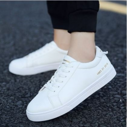 Men's Korean Wild Style Trend Lace Up Round Head  Casual Canvas Shoes