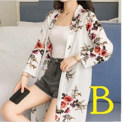Women Korean Fashion Loose Long Chiffon Shawl And Cardigan