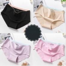 Women Youth Style Middle Waist Cotton  Underwear