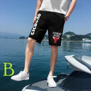 Men's Korean Fashion City Harajuku Style Loose Black Beach Shorts