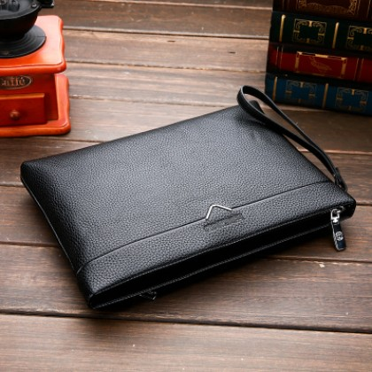 Men's Korean Trend Leather Envelope Business Handbag