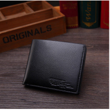 Men's Korean Trend Leather One Fold Business Card Clip Organizer