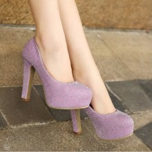 Women High Fashion Sequins Casual and Wedding High Heel Shoes