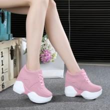 Women Korean Trend  Super High Heel Fashion Sports Shoes