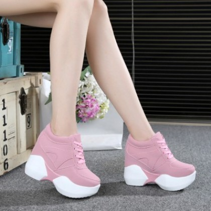 Women Korean Trend  Super High Heel Fashion Sports Shoes