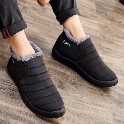 Men's Fashion High Quality Casual Velvet Snow Boots Cloth Shoes