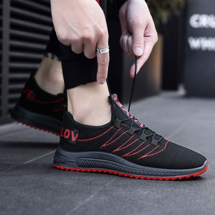 Men's Fashion Youth Trend Wild Style Non Slip Running Sports Shoes