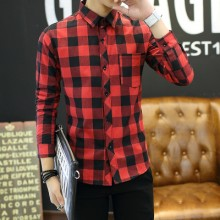 [READY STOCK] Long Sleeve Lattice Shirt Men