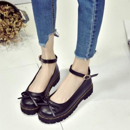 [READY STOCK] Women Japanese Retro Round-Headed Lolita Shoes