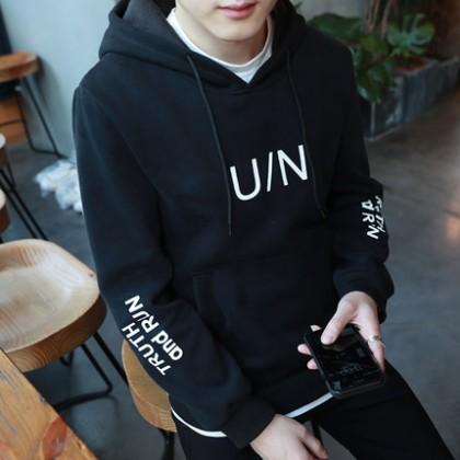 [READY STOCK] UN Men's Winter Long-sleeved Hooded Jacket T