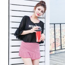 [READY STOCK] Women 3 Piece Sexy Swimsuit Skirt Type Split Plus Size Summer Swim Wear