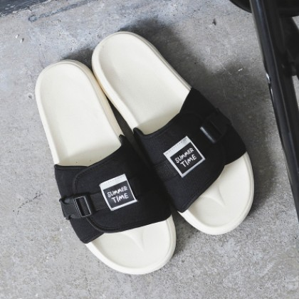 [READY STOCK] Men's Beach Flip Flops Couple Plus Size Summer Slippers