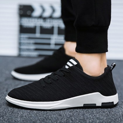 [READY STOCK] Men's Embossed Print Breathable Comfort Running Sports Shoes