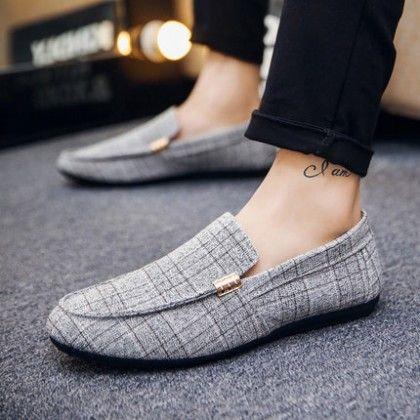 [READY STOCK] Men's Lazy Autumn Breathable Cloth Fashion Style Plus Size Casual Shoes