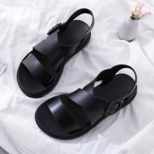 [READY STOCK] Women Jelly Sandals Waterproof Plastic Flat Bottoms Beach Plus Size Sandals