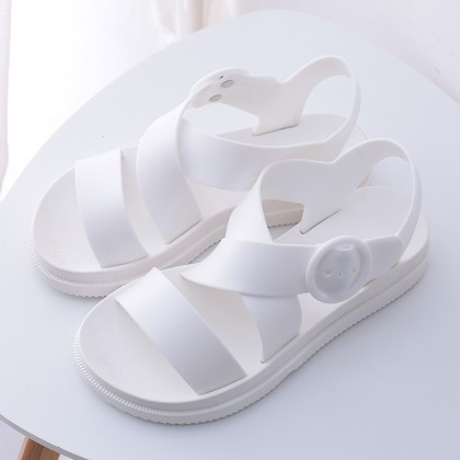[READY STOCK] Women Jelly Sandals Waterproof Plastic Flat Bottoms Beach Plus Size Sandals