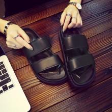 [READY STOCK] Men's Black Non Slip Summer Slippers Outdoor Fashion Couple Plus Size Flip Flops
