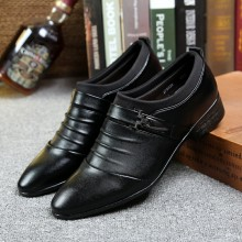 [READY STOCK] Men's Leather Pointed Shoes Casual Business Leisure Fashion Male Casual Shoes