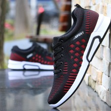 [READY STOCK] Men's Durable Flying Weave Sports Shoes Summer Fashion Wild Trend Running Shoes