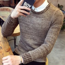 [READY STOCK] Men Kinitted Round Neck Long Sleeve Sweater