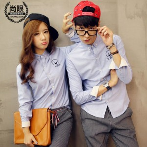 [READY STOCK] Toroy Men and Women Couple Lovers Long Sleeve Shirt