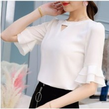 Women Korean Fashion  Wild Casual Slim Chiffon  Shirt