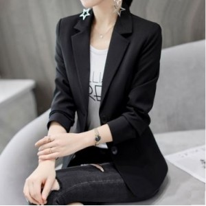 Women Korean Fashion Slim Fit Casual Cardigan  Career Coat