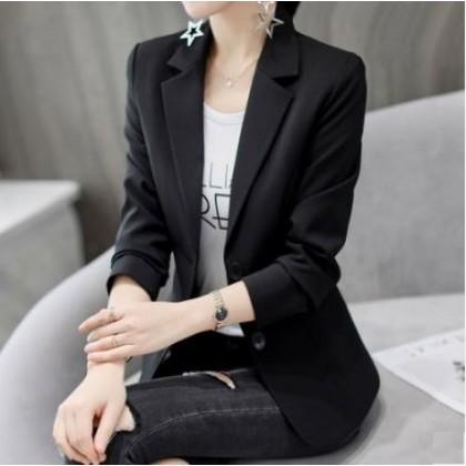 Women Korean Fashion Slim Fit Casual Cardigan  Career Coat