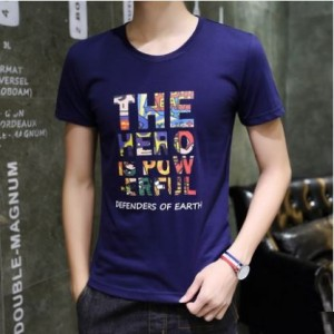 Men's Korean Youth Fashion Hero Short Sleeved Cotton Shirt