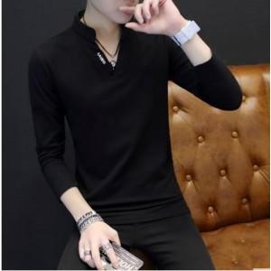 Men's Korean Youth Fashion V Neck Long Sleeved Sweater