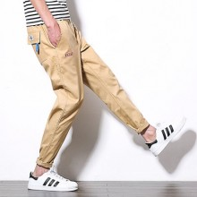 Men's Korean Youth Fashion Loose Low Waist Regular Trouser
