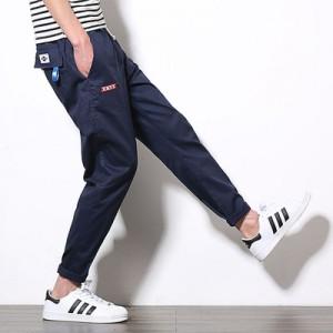 Men's Korean Youth Fashion Loose Low Waist Regular Trouser