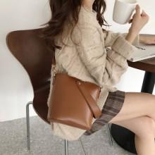Women Korean Fashion Retro  Simple Wild Style Shoulder Sling Bag