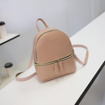 Women Korean Fashion Retro  Small Glossy Leather Shoulder and Backpack