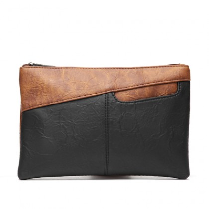 Men's Korean Fashion Trend Retro Leather Flip Envelope Handbag