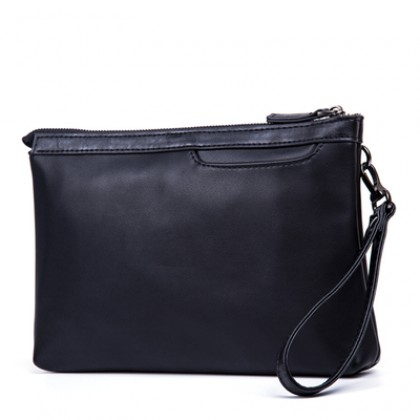 Men's Korean Fashion Trend Street Style Casual Black Handbag