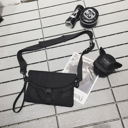 Men's Korean Trend Hip Hop Street Style Messenger Cross Body Sling Bag
