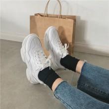 Women Korean Trend  Fashion Wild Thick Muffin Running Shoes