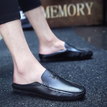 Men's Fashion Youth Drag Style Half Slipper Casual Peas Shoes