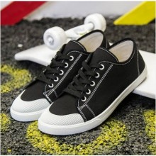Men's Fashion Trend Wild Style Low Cut Lace Up Canvas Sneakers