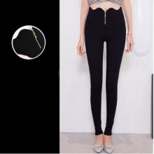 Women Korean Fashion Trend Wild Style High Waist Stretchable Trouser