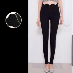 Women Korean Fashion Trend Wild Style High Waist Stretchable Trouser