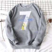 Men's Korean Youth Trend 7 Protect Homes Loose Velvet Sweater