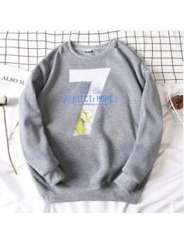 Men's Korean Youth Trend 7 Protect Homes Loose Velvet Sweater