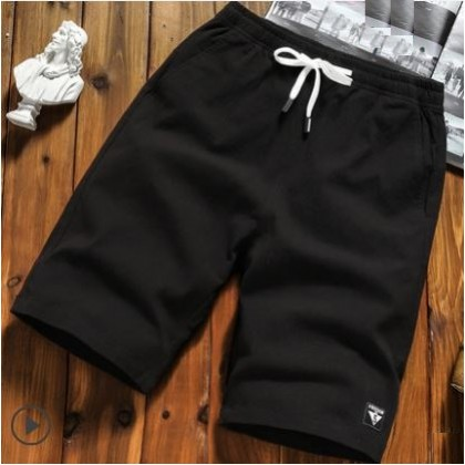 Men's Korean Youth Trend Loose Beach Pants Cropped Trouser