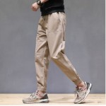 Men's Korean Youth Trend Basic Style Loose Fashion Retro Pants