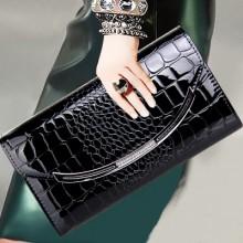 Women Korean Wild Fashion  Stone Pattern Envelope Hand Bag
