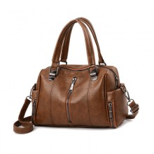 Women Korean Fashion Washed Leather Casual Wild Style Messenger Bag