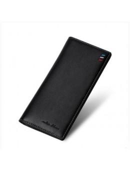 Men's Korean Fashion Trend Soft Leather Vertical Card Holder Wallet